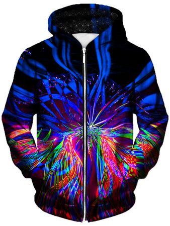 Gratefully Dyed - On One Unisex Zip-Up Hoodie