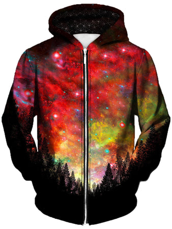 Gratefully Dyed - Rasta Woods Unisex Zip-Up Hoodie