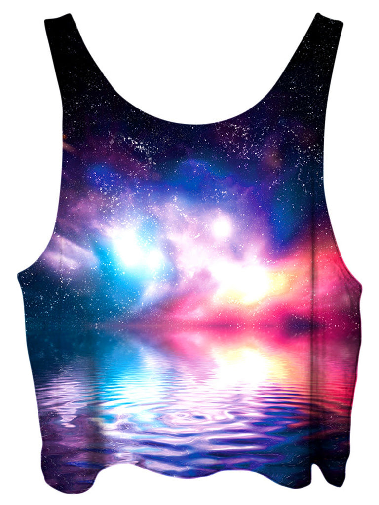 Gratefully Dyed Ripple in Space Crop Top