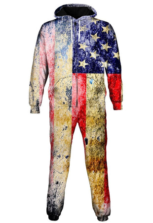 Gratefully Dyed - Tattered Flag Onesie