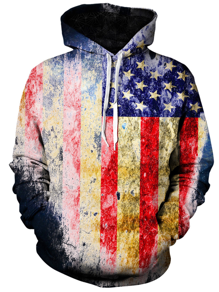 Gratefully Dyed Tattered Flag Unisex Hoodie
