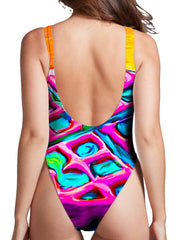 Heather McNeil Waffles High Cut One-Piece Swimsuit