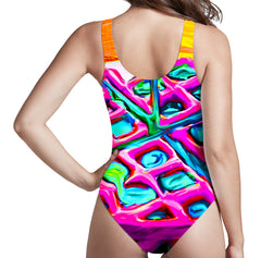 Heather McNeil Waffles Low Cut One-Piece Swimsuit