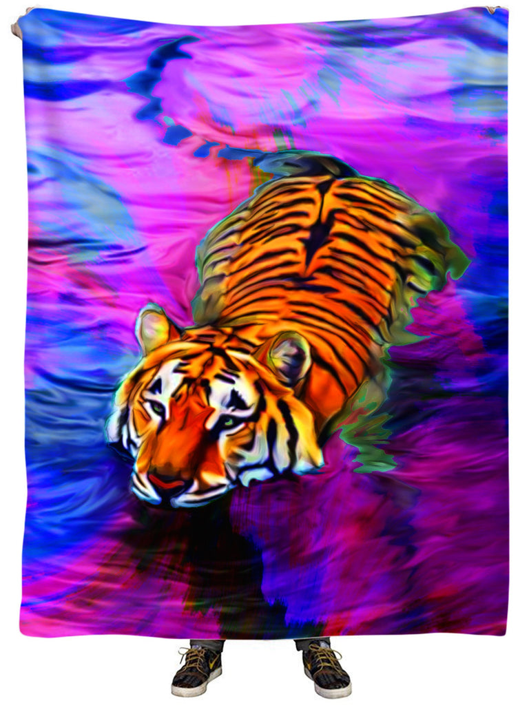 Heather McNeil Water Tiger Plush Blanket