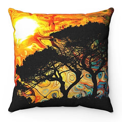 Home Decor African Sun Square Pillow Case - iEDM