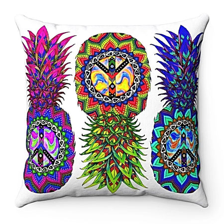 Home Decor - Ananas Trio Square Pillow Case
