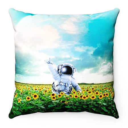Home Decor - Astronaut Flowers Square Pillow Case