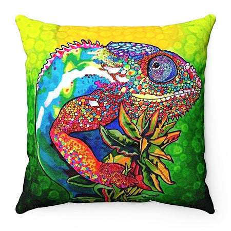 Home Decor - Capricious Chameleon Square Pillow Case