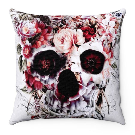Home Decor - Floral Skull Square Pillow Case