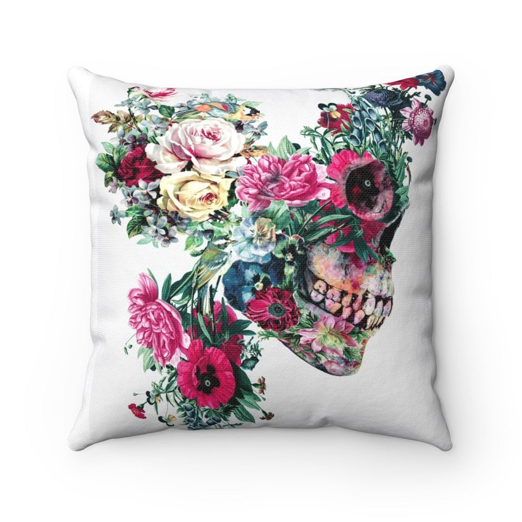 Home Decor Flower Skeleton Square Pillow Case - iEDM