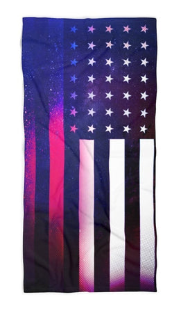 iEDM - Galaxy Flag Beach Throw