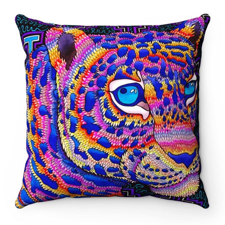 Home Decor - Jungle Jaguar Square Pillow Case
