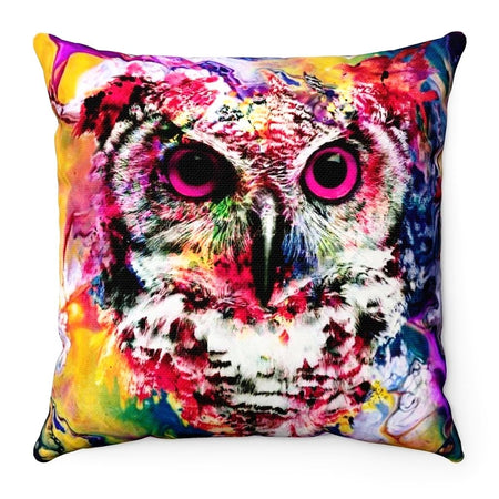 Home Decor - Owl Square Pillow Case