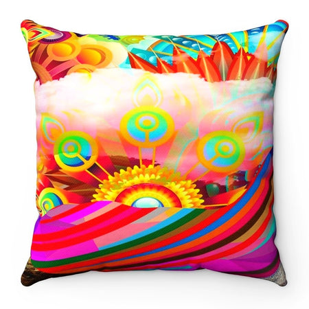 Home Decor - Rainbow Land Square Pillow Case