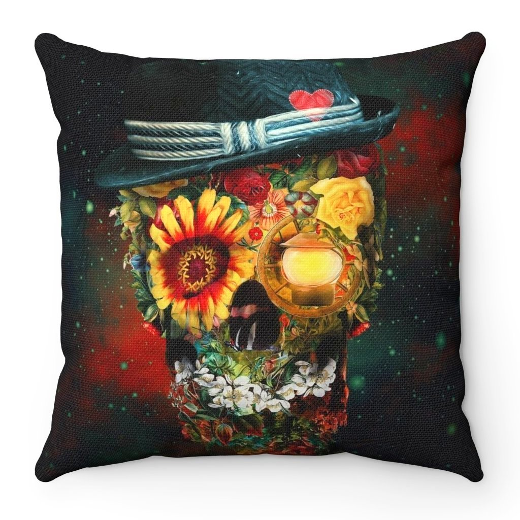 Home Decor Skull Lover Square Pillow Case - iEDM