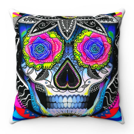 Home Decor - Suger Skull Square Pillow Case