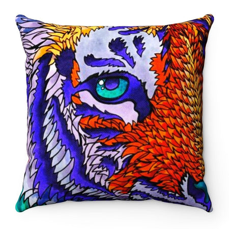 Home Decor - Telenergetic Tiger Square Pillow Case