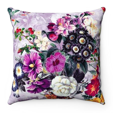 Home Decor - Violets Square Pillow Case