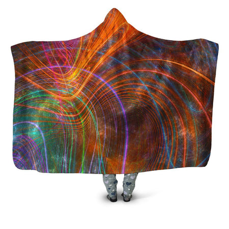 Yantrart Design - Fractalized Hooded Blanket