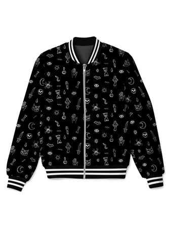 iEDM - Black Pattern Bomber Jacket