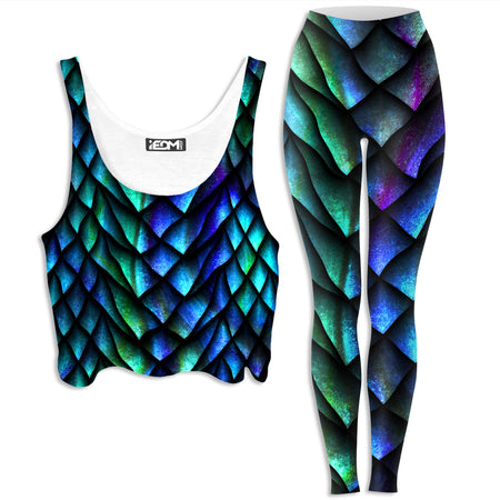 iEDM - Dosed Dragon Scale Crop Top and Leggings Combo