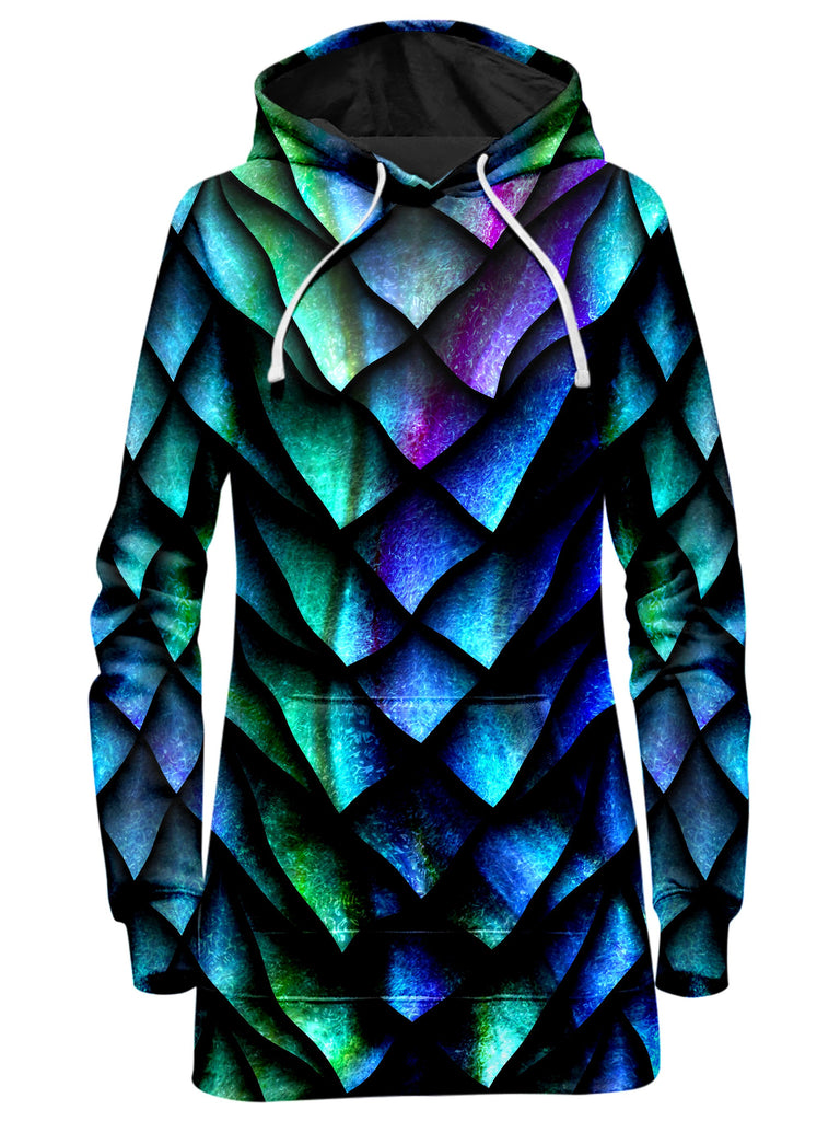 iEDM Dosed Dragon Scale Hoodie Dress and Leggings with PM 2.5 Face Mask Combo - iEDM