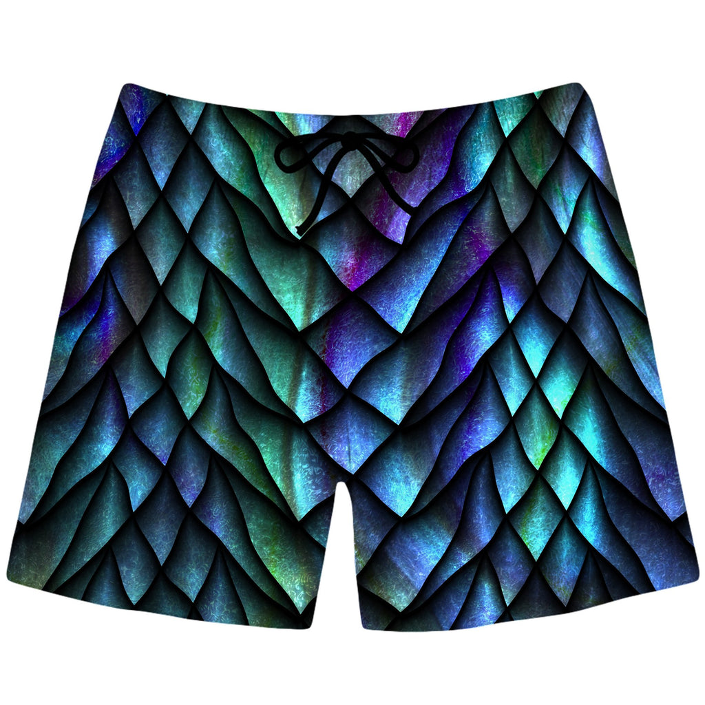 iEDM Dosed Dragon Scale Swim Trunks - iEDM