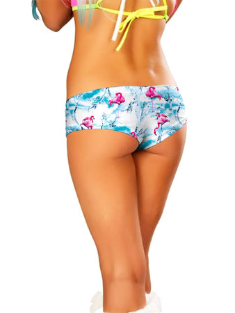 iEDM - Flamingos Booty Shorts