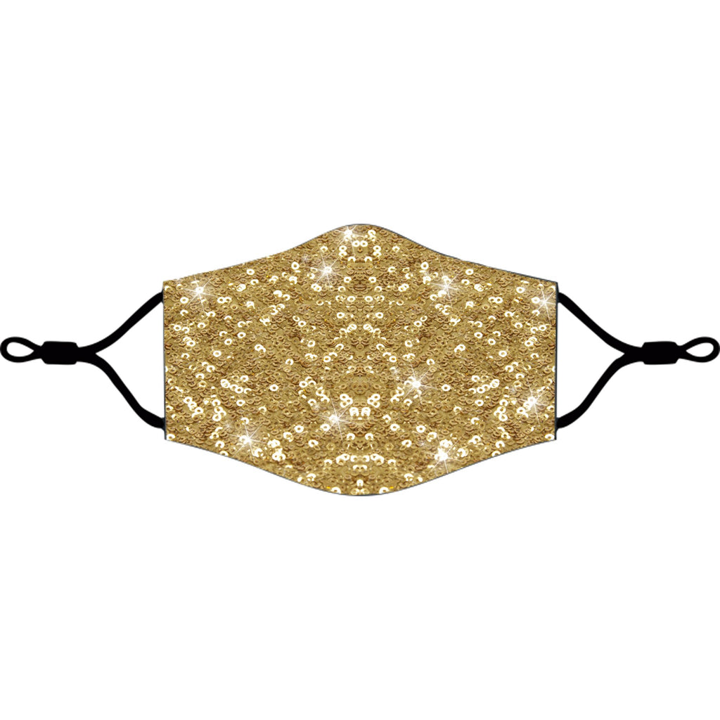 iEDM Gold Sequin Cloth Face Mask - iEDM