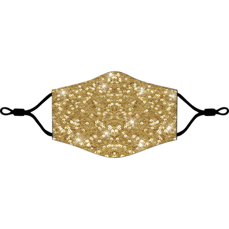 iEDM - Gold Sequin Face Mask