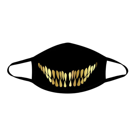 iEDM - Gold Teeth Cloth Face Mask