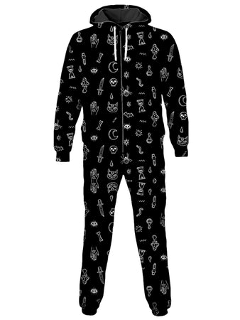 iEDM - Halloween Pattern Black Onesie