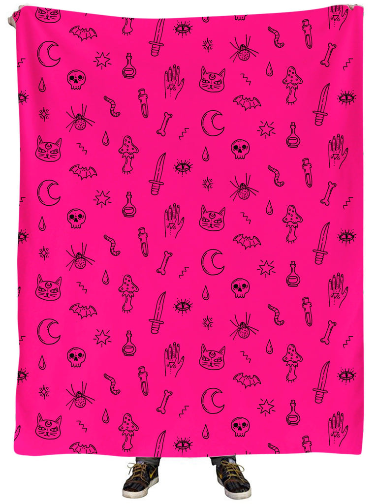 iEDM Pink Pattern Plush Blanket