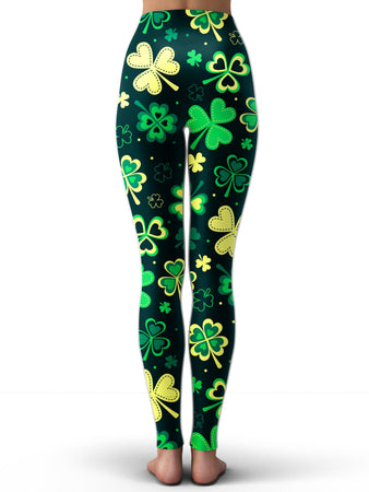 iEDM - Trippy Clover Leggings