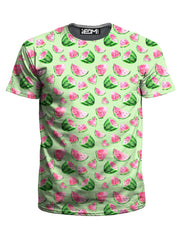 iEDM Watermelon Pattern T-Shirt and Shorts with PM 2.5 Face Mask Combo - iEDM