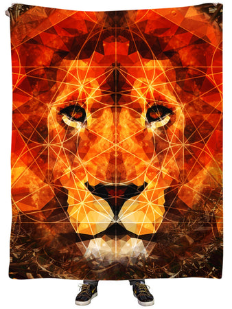 Lucid Eye Studios - King of the Jungle Plush Blanket