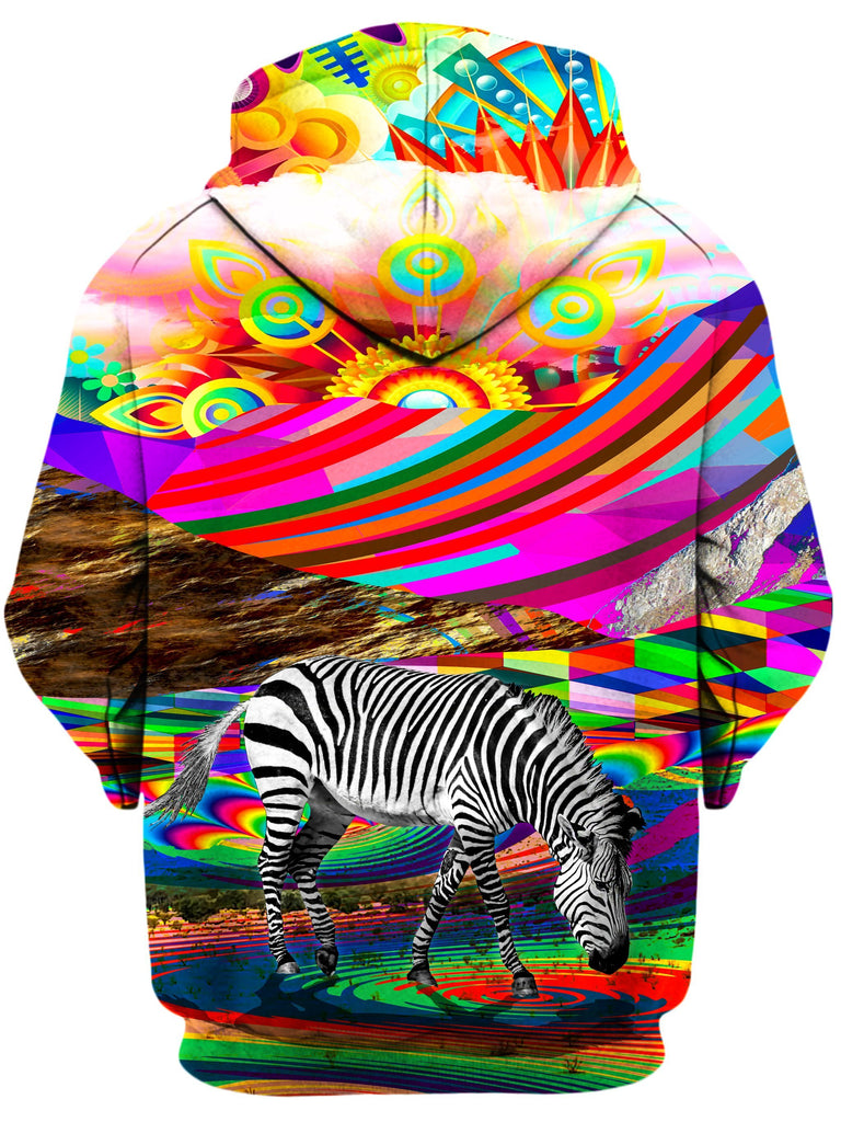Lucid Eye Studios Rainbow Land Unisex Zip-Up Hoodie