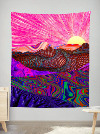 Lucid Eye Studios - Trippy Trek Tapestry