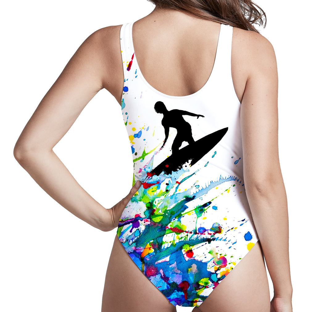 Marc Allante A Pollock's Point Break Low Cut One-Piece Swimsuit