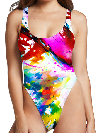Marc Allante - Faust High Cut One-Piece Swimsuit