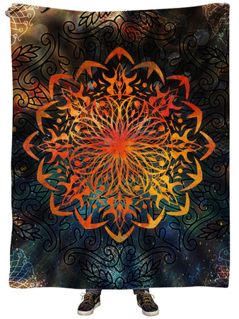 MCAshe Spiritual Art - Fire Ornament Plush Blanket