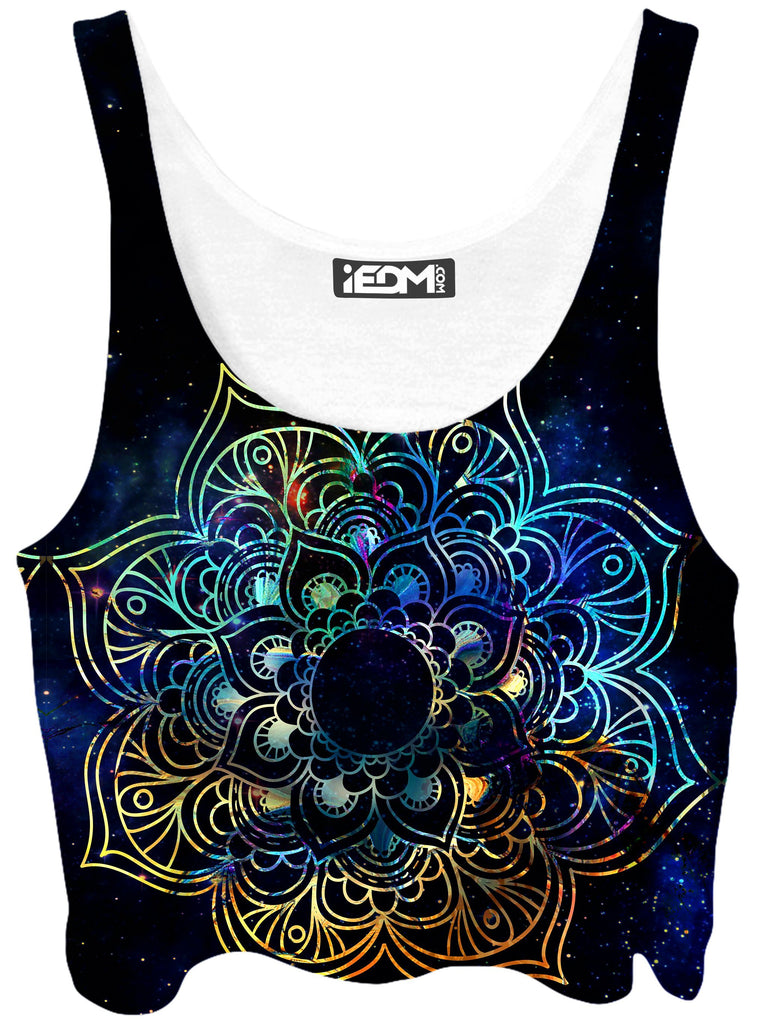 MCAshe Spiritual Art Galaxy Mandala Crop Top - iEDM
