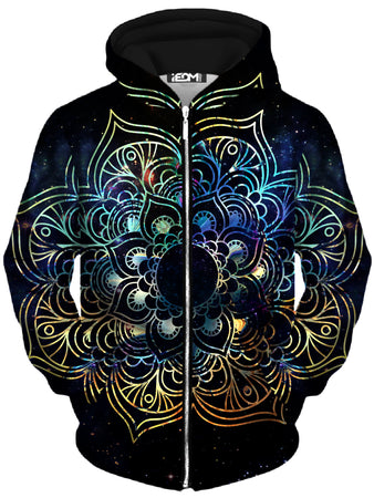 MCAshe Spiritual Art - Galaxy Mandala Unisex Zip-Up Hoodie