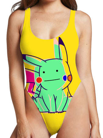 Noctum X Truth - Ditto Pikachu High Cut One-Piece Swimsuit