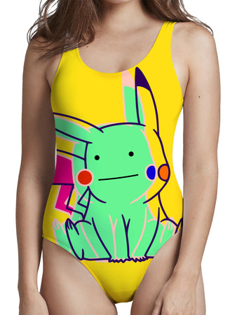 Noctum X Truth - Ditto Pikachu Low Cut One-Piece Swimsuit