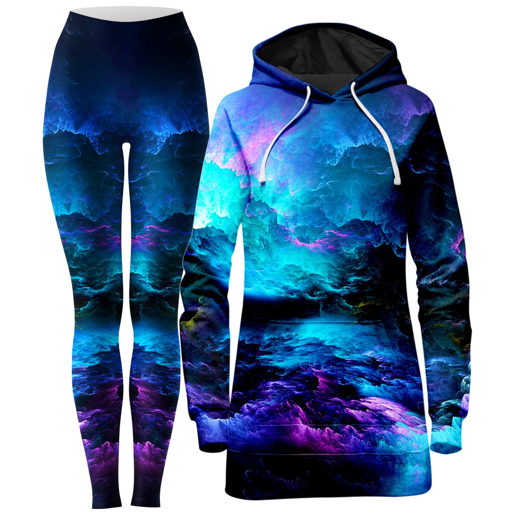Noctum X Truth Dream Waves Hoodie Dress and Leggings Combo