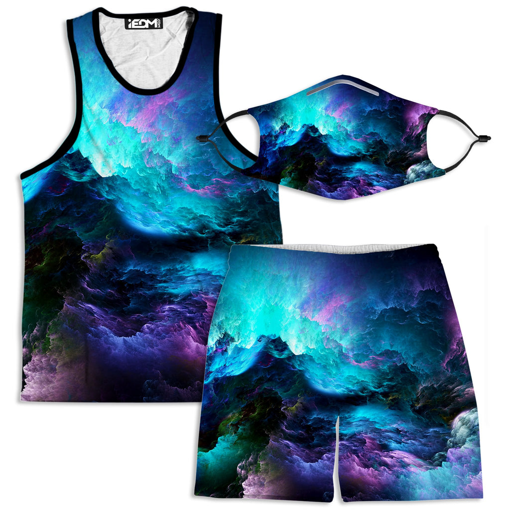 Noctum X Truth Dream Waves Tank and Shorts with PM 2.5 Face Mask Combo - iEDM
