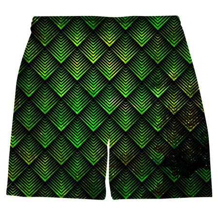 Noctum X Truth - Galactic Dragon Scale Green Weekend Shorts