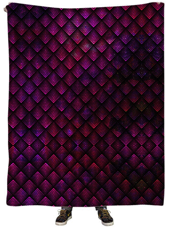 Noctum X Truth - Galactic Dragon Scale Pink Plush Blanket