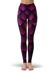Noctum X Truth Galactic Dragon Scale Pink Women's Tank and Leggings Combo